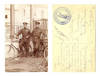 WWI Bulgaria bicycle unit soldier postcard RR