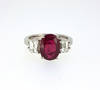 Red Burma Ruby Diamond Ring Lab Report