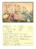 Art Deco CHIOSTRI 3 Easter Ladies postcard RR