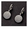 SABBADINI 10Ct Diamond Hoop Dangle Earrings
