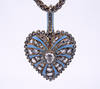Victorian Diamond Enamel Heart Pendant Locket