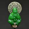 Art Deco MAUBOUSSIN Buddha diamond brooch RR