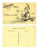 WWI anti German Zeppelin propaganda postcard