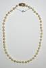 Antique Cultured Pearl Necklace Diamond Clasp