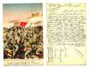 1913 Bulgaria Turkey patriotic postcard LOZEN