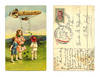 1915 Germany Lucky Zeppelin clover postcard R