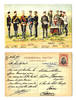 1912 Bulgaria Royal Army uniforms postcard RR