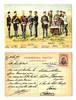 1912 Bulgaria Royal Army uniforms postcard RR