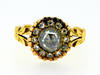 Georgian Sunburst Rose Cut Diamond Gold Ring